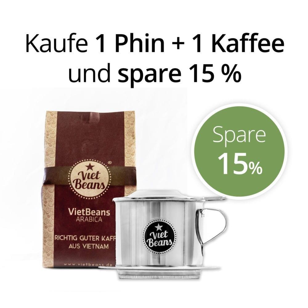 Kaufe 1 Phin und 1 Kaffee und spare 15 %