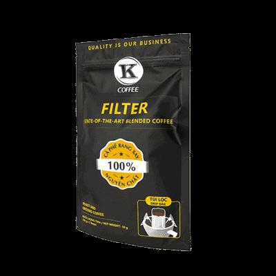 Drip Filter von K-Coffee Schräge Frontansicht, geeignet als Camping Kaffeekocher für Festival oder Wohnmobil