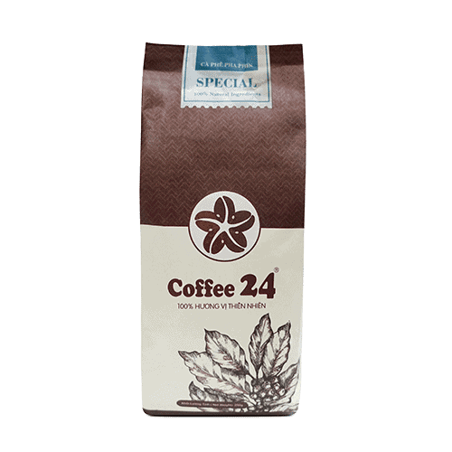 Coffee 24 Special coffee beans 250g Front view