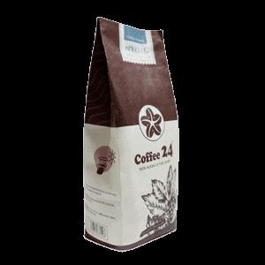 Coffee 24 Special Kaffeebohnen 250g Schräge Frontansicht
