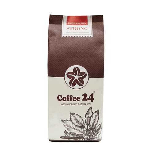 Coffee 24 Strong Kaffeebohnen 250g Frontansicht