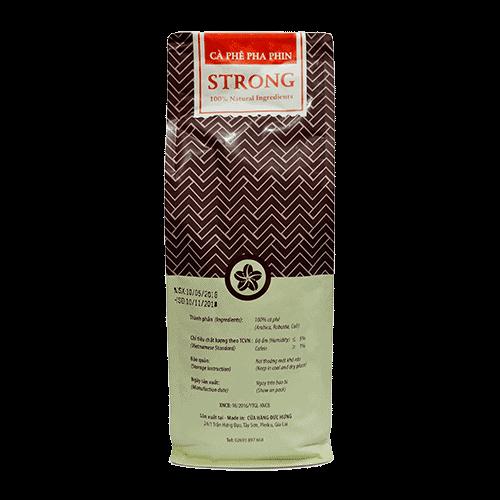 Coffee 24 Strong Kaffeebohnen 500g Rückansicht