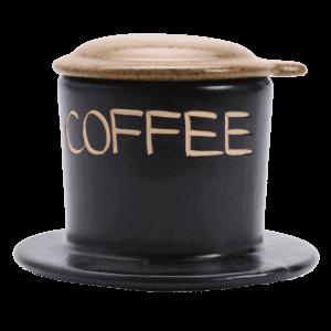 Traditioneller vietnamesischer Kaffeefilter Cafe Phin aus Keramik