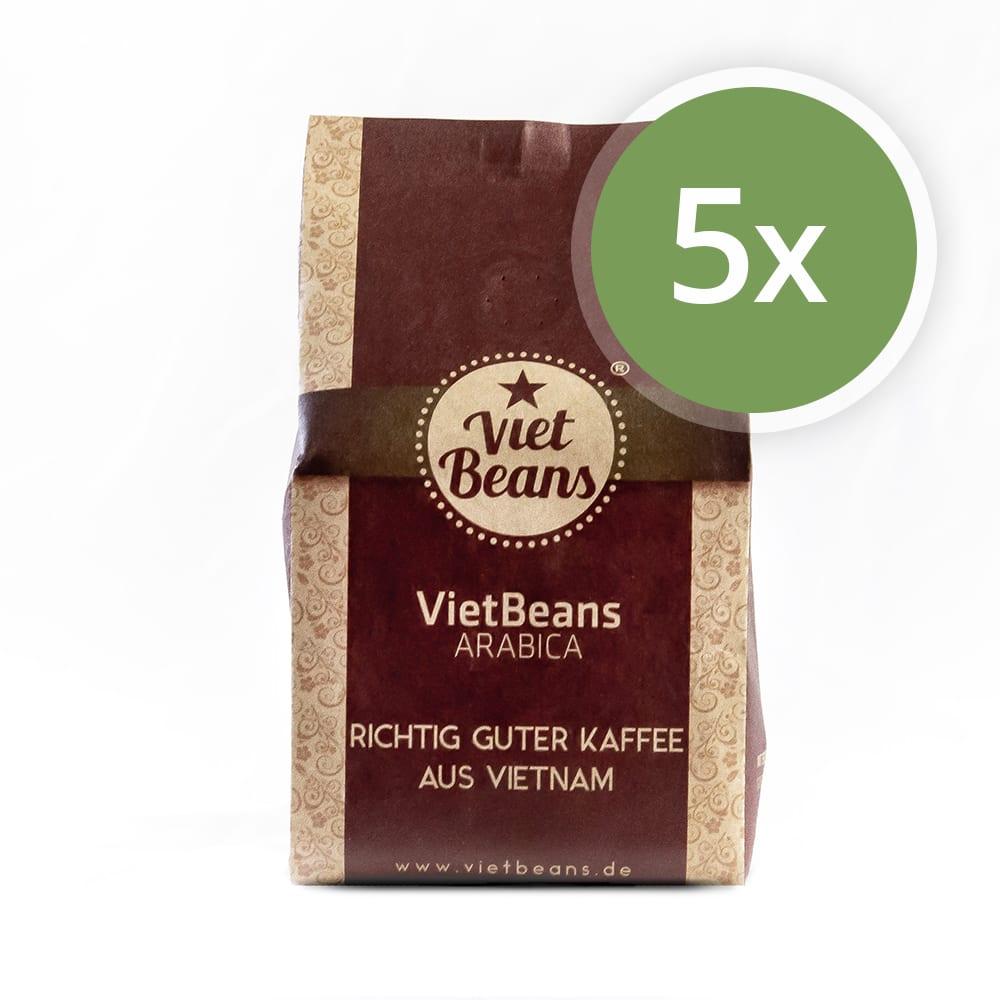 VietBeans Arabica Kaffee 5er Pack