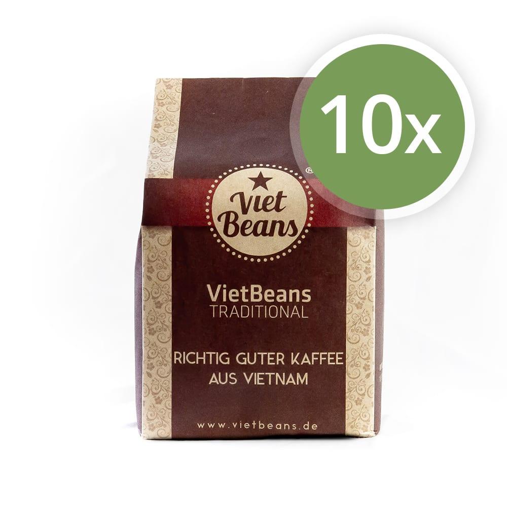 VietBeans Traditional Kaffee 10er Pack