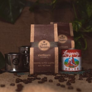 VietBeans-Set Kaffeeset 2x Kaffee 2x Kondensmilch 1x Kaffeefilter