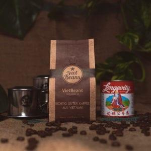 VietBeans-Set Kaffeeset 1x Kaffee 1x Kondensmilch 2x Kaffeefilter