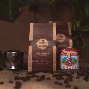 VietBeans-Set Kaffeeset 2x Kaffee 1x Kondensmilch 1x Kaffeefilter