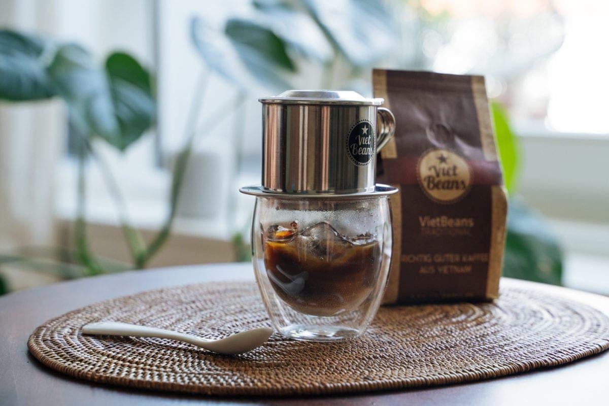 Eiskaffee Zubereitung vietnamesischer Kaffee Ca Phe Sua Da