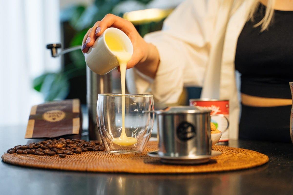 Vietnamesischer Kaffee Zubereitung Schritt 1