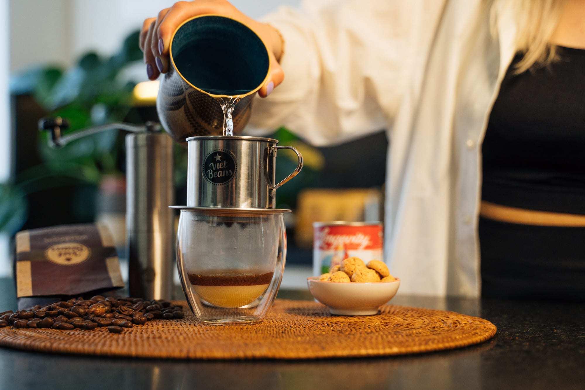 Vietnamesischer Kaffee Zubereitung Schritt 4